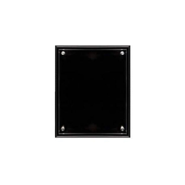 Plaque with Acrylic Black