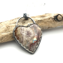 Load image into Gallery viewer, Heart Necklace - Wildfire Opal