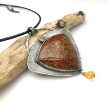 Load image into Gallery viewer, Bloody Basin Plume Agate Necklace