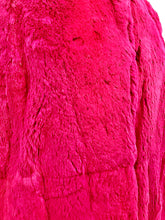 Load image into Gallery viewer, 1980's Hot Pink Full Length Rabbit Fur Coat by Carol Little