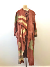 Load image into Gallery viewer, 1980's Coco Brown Silk Asymmetrical Drape Dress by Laise Adzer