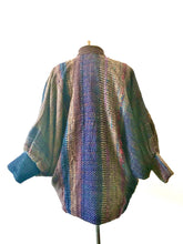 Load image into Gallery viewer, 1980's Woven Textural Bat Wing Coat by Jasmine
