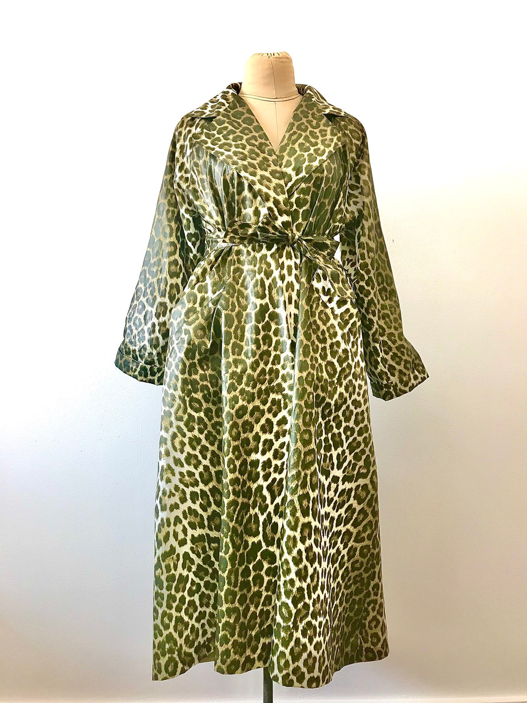 1980's Leopard Print Trench Coat by Court Royal