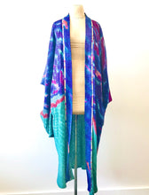 Load image into Gallery viewer, 1980's Hand Painted Rayon Swirl Kimono by Laise Adzer