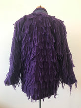Load image into Gallery viewer, 1980's Purple Hand Woven Fringe Monster Jacket by Crystal
