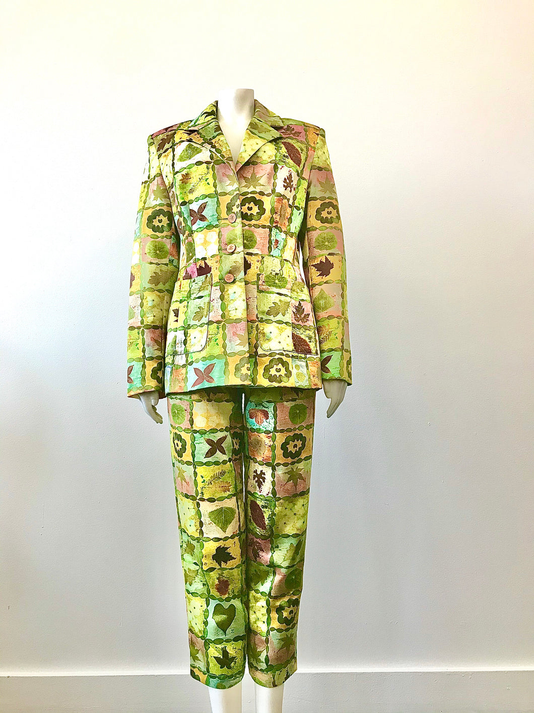 1990's Nature Print Suit by Todd Oldham Times 7