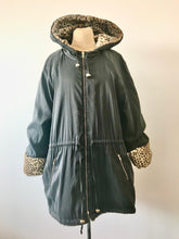 Load image into Gallery viewer, 1990's Faux Fur Leopard Print Reversible Parka