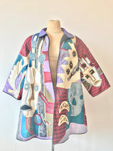 Load image into Gallery viewer, 1980's Skull Applique Swing Coat by Judith Roberts