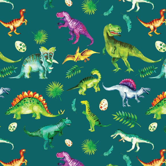 FABArt Custom Print Fabric - Showcase SA Designer Joey and Jo - Dino Colben