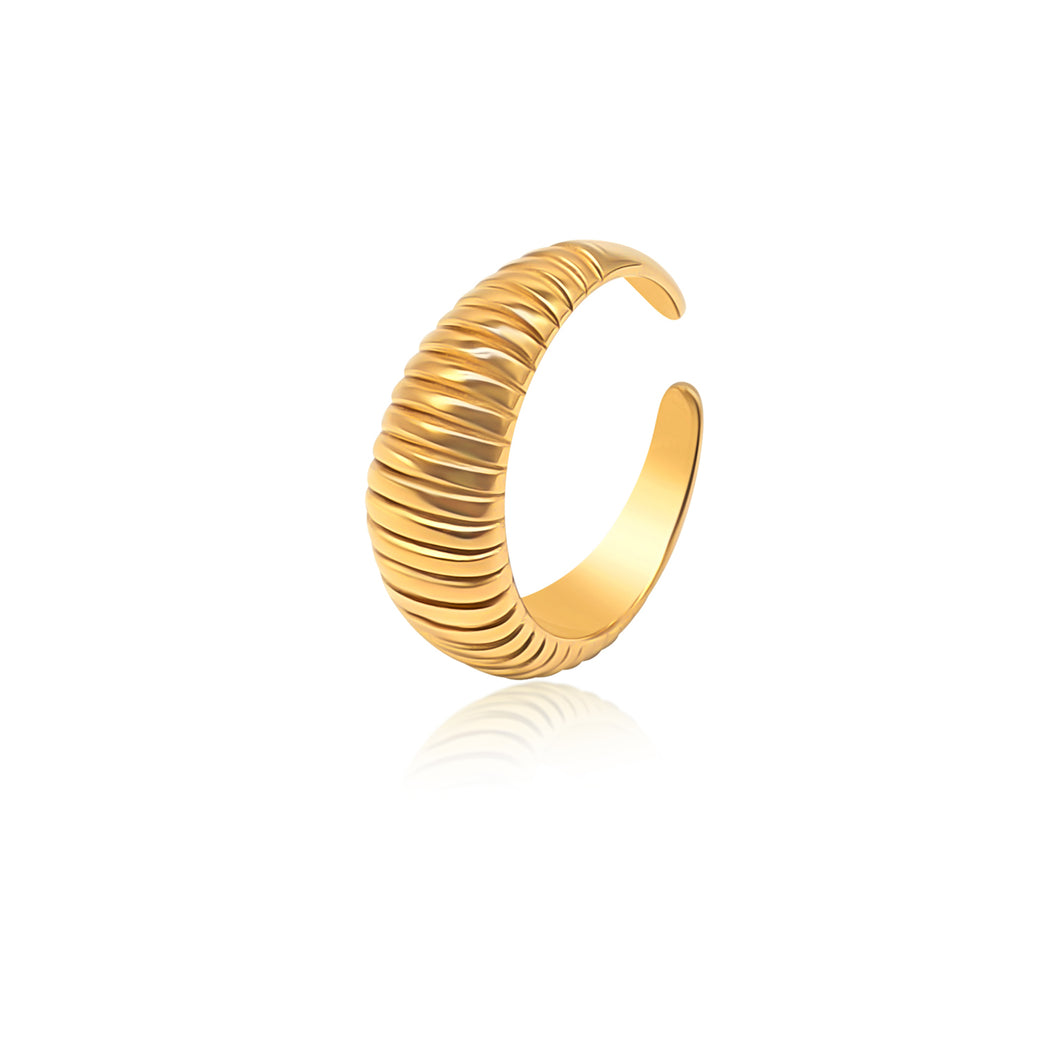 Dome Croissant Ring