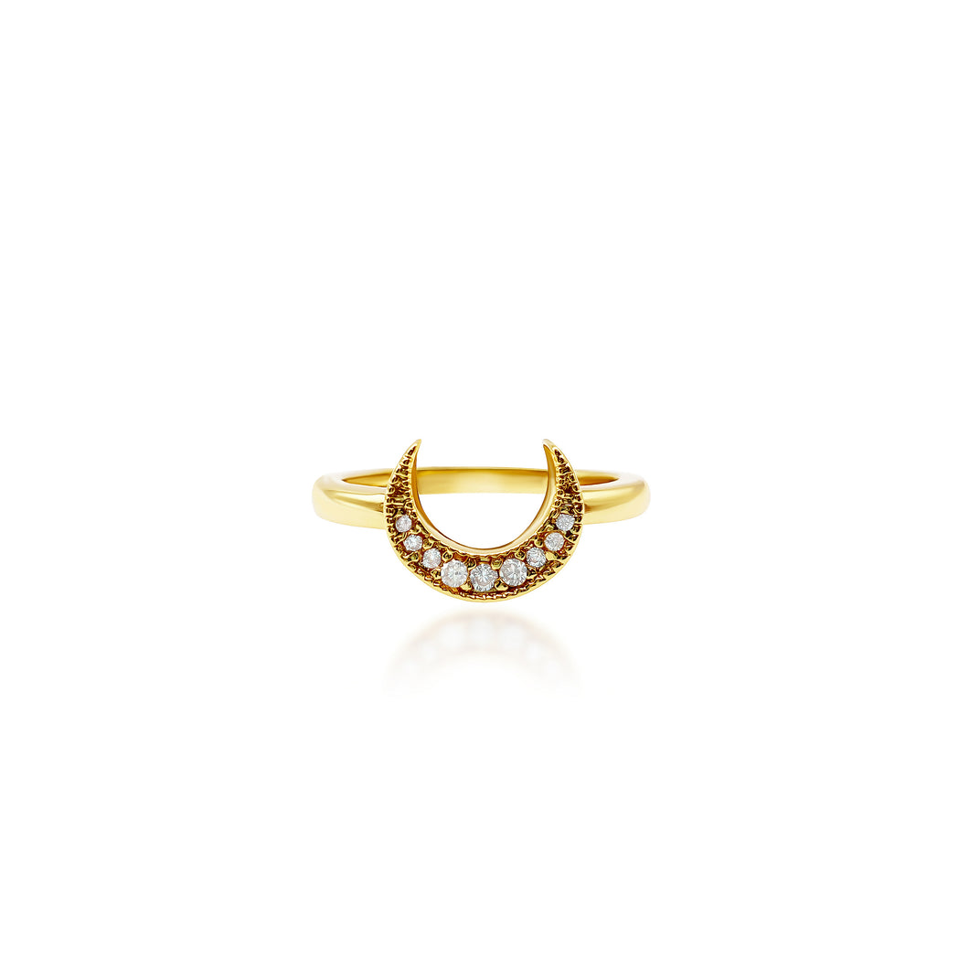 Crescent Gold Ring