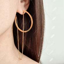 Load image into Gallery viewer, Ana Hoop and Chain Earrings
