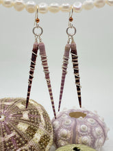 Load image into Gallery viewer, Spiny Sea Urchin 2-Spine Wrap Sterling Silver Earrings