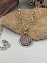 Load image into Gallery viewer, Rhodochrosite Stalactite necklace & pendant 18x18mm