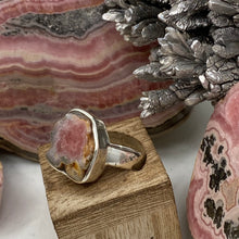 Load image into Gallery viewer, Rhodochrosite Stalactite Silver Ring ~14mm Size 8