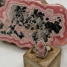 Load image into Gallery viewer, Rhodochrosite Stalactite Silver Ring ~18mm Size 4