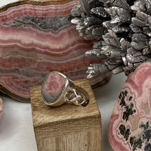Load image into Gallery viewer, Rhodochrosite Stalactite Silver Ring ~14mm Size 6