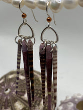 Load image into Gallery viewer, Spiny Sea Urchin 3-Spine Triangle Sterling Silver Earrings