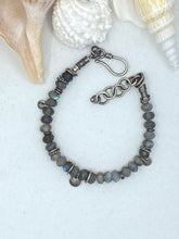Load image into Gallery viewer, Sterling Silver & Labradorite Bracelet
