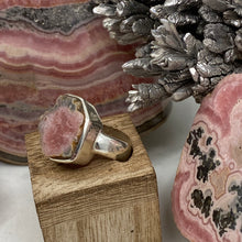 Load image into Gallery viewer, Rhodochrosite Stalactite Silver Ring ~16mm Size 6
