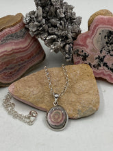 Load image into Gallery viewer, Rhodochrosite Stalactite Necklace & Pendant 19x22mm