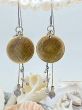 Load image into Gallery viewer, Mermaid Large Disc Brass/Silver Earrings