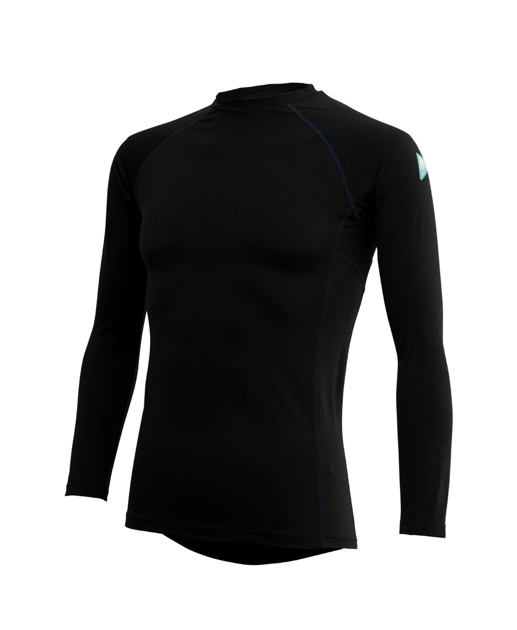 Freeze Tech Shirt, Long Sleeve, Black- Sustained Cold Effect / Quick Dry / Antibacterial & Anti Odour / Anti UV