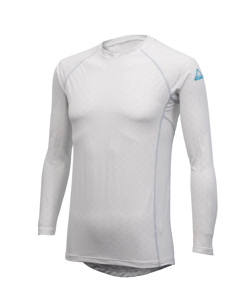 Freeze Tech Shirt, Long Sleeve, White- Sustained Cold Effect / Quick Dry / Antibacterial & Anti Odour / Anti UV