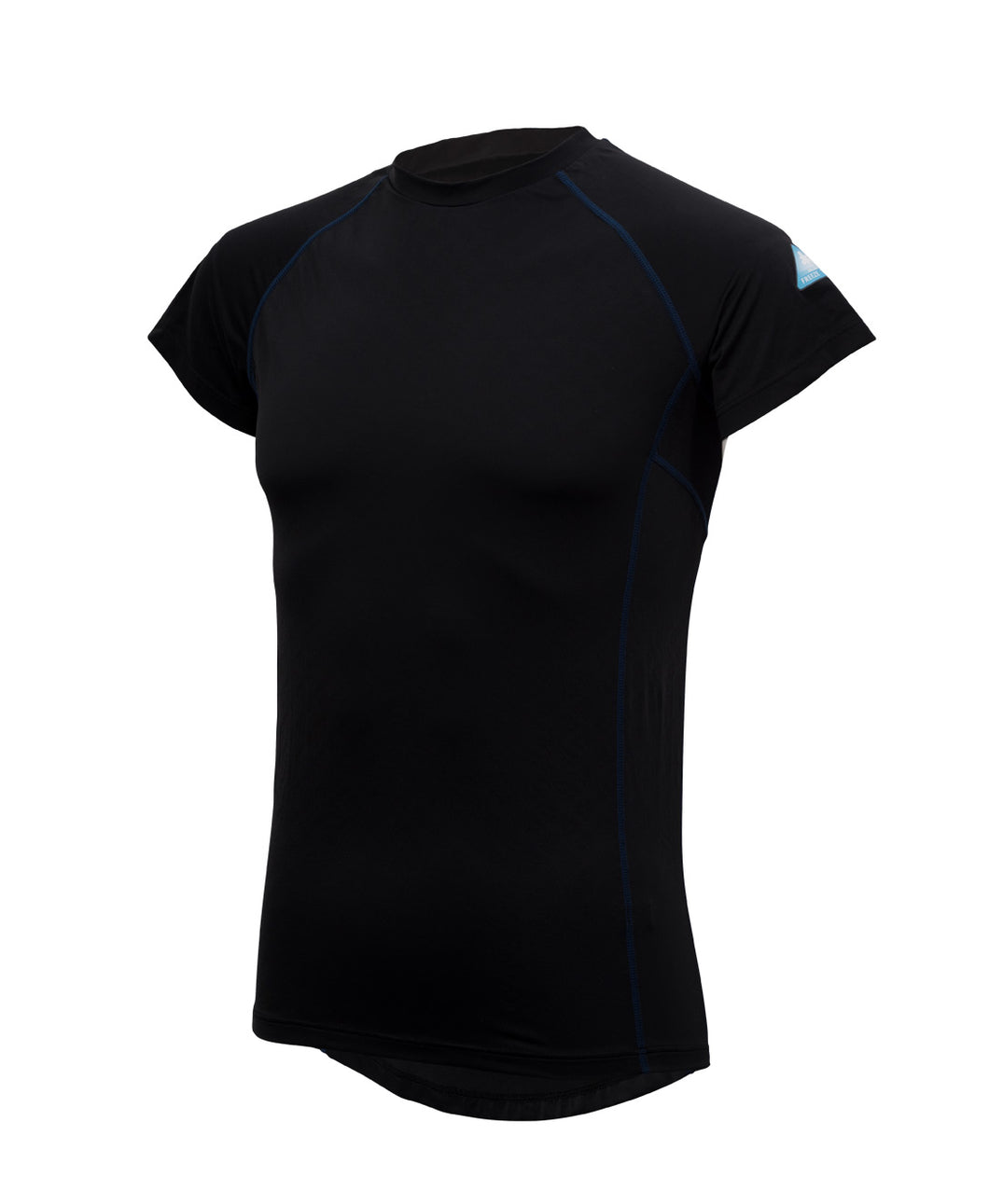 Freeze Tech Shirt, Short Sleeve, Black- Sustained Cold Effect / Quick Dry / Antibacterial & Anti Odour / Anti UV