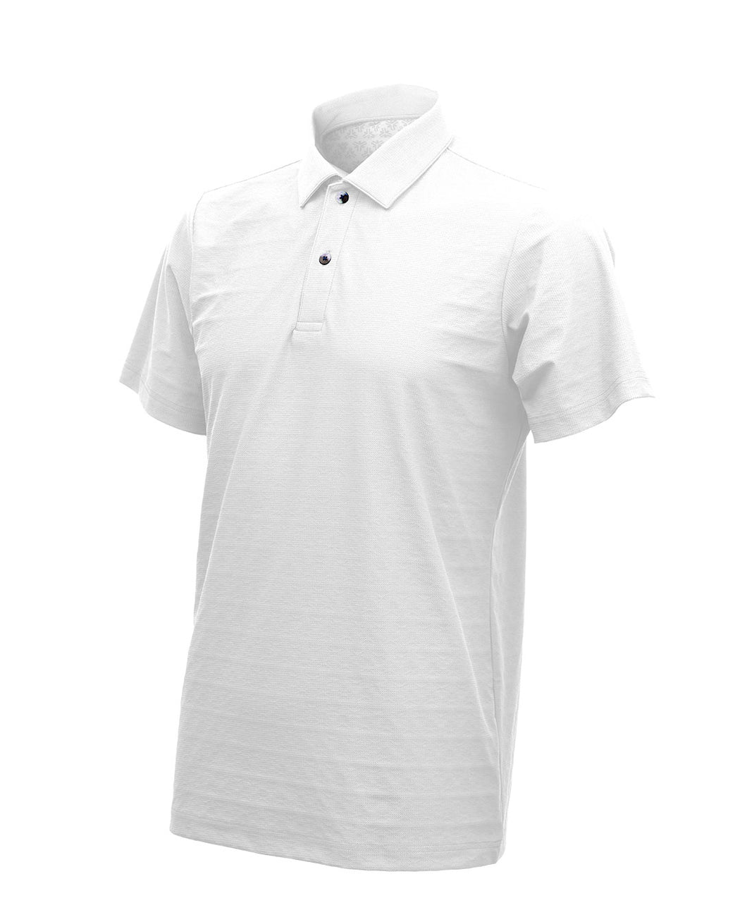 Freeze Tech Polo Shirt, Short Sleeve, White- Performance Sustained Cold Effect / Quick Dry / Antibacterial & Anti Odour / Anti UV