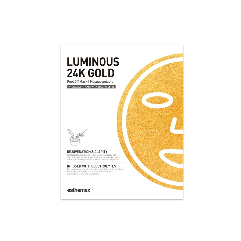 Luminious 24k Gold Mask packaging
