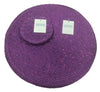 Metallic Effect Purple Package Set Of 4 Placemats And 4 Coasters