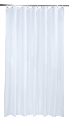 PEVA Waterproof White Shower Curtain/ Liner Including 12 Rings