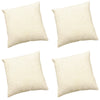 Pack of 4 Jumbo Cord Cream Cushion Cover - CLEARANCE PRICE