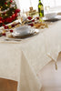 Blizzard Cream Christmas/Xmas Tablecloths And Accessories (Sold Seperately)