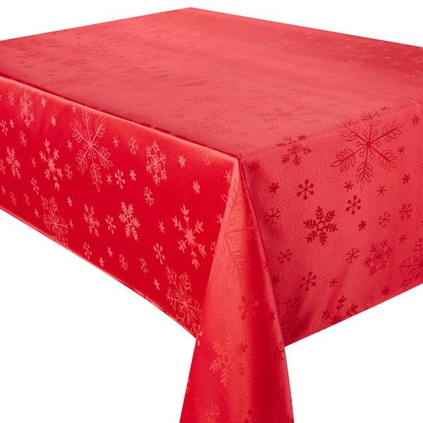 Blizzard Red Christmas Tablecloth Mega Package Sets