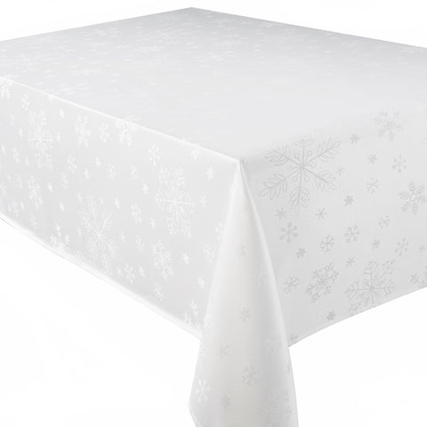 Blizzard White Christmas/Xmas Tablecloths And Accessories (Sold Seperately)