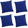Pack Of 4 Chenille Spot Blue Textured Cushion Cover - CLEARANCE PRICE