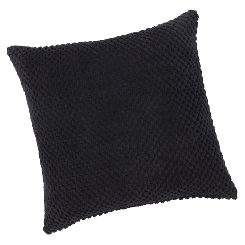 Chenille Spot Black Textured Cushion Cover - CLEARANCE PRICE