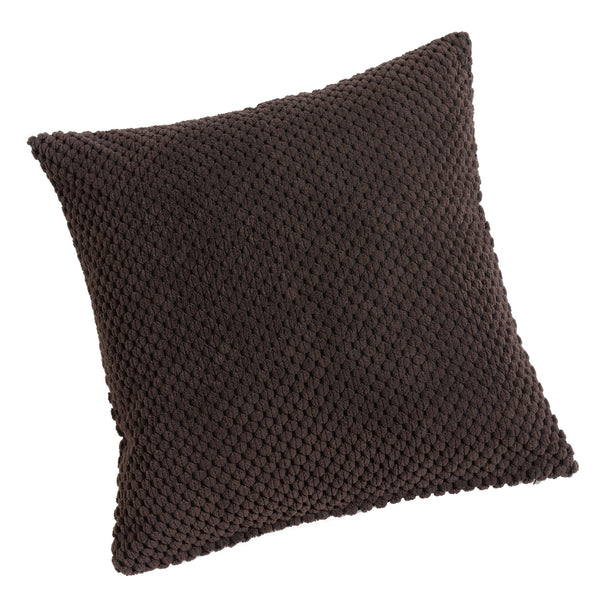 Chenille Spot Chocolate Brown Textured Cushion Cover - CLEARANCE PRICE