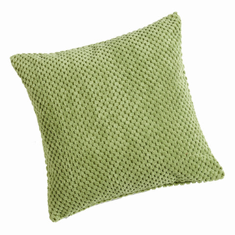 Chenille Spot Lime Green Textured Cushion Cover - CLEARANCE PRICE
