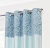 Darcy Teal Ring Top / Eyelet Fully Lined Readymade Curtains - TO CLEAR