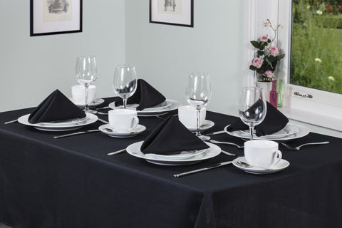 Essentials Easycare Black Tablecloths And Accessories - TO CLEAR