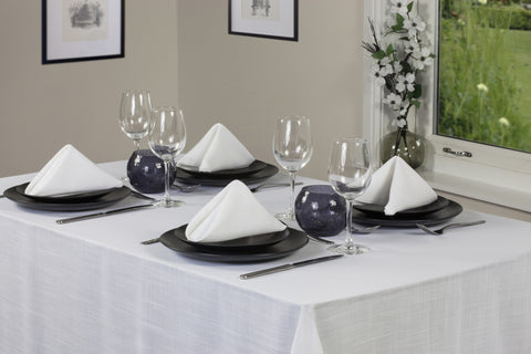 Essentials Easycare White Tablecloths And Accessories