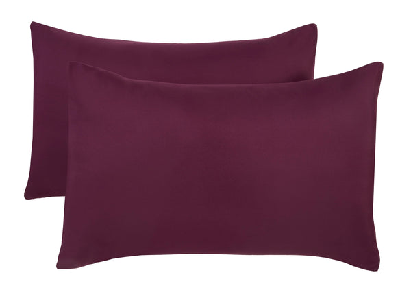 Polyester Aubergine Pillowcase Pairs - TO CLEAR