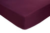 Polyester Aubergine Fitted Sheets - TO CLEAR