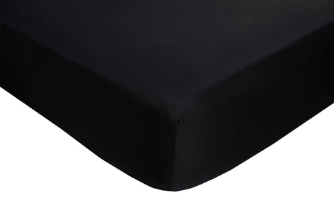 Polyester Black Fitted Sheets - TO CLEAR