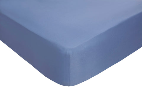 Polyester Blue Fitted Sheets - TO CLEAR
