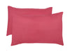 Polyester Cerise Pillowcase Pairs