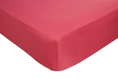 Polyester Cerise Fitted Sheets - TO CLEAR